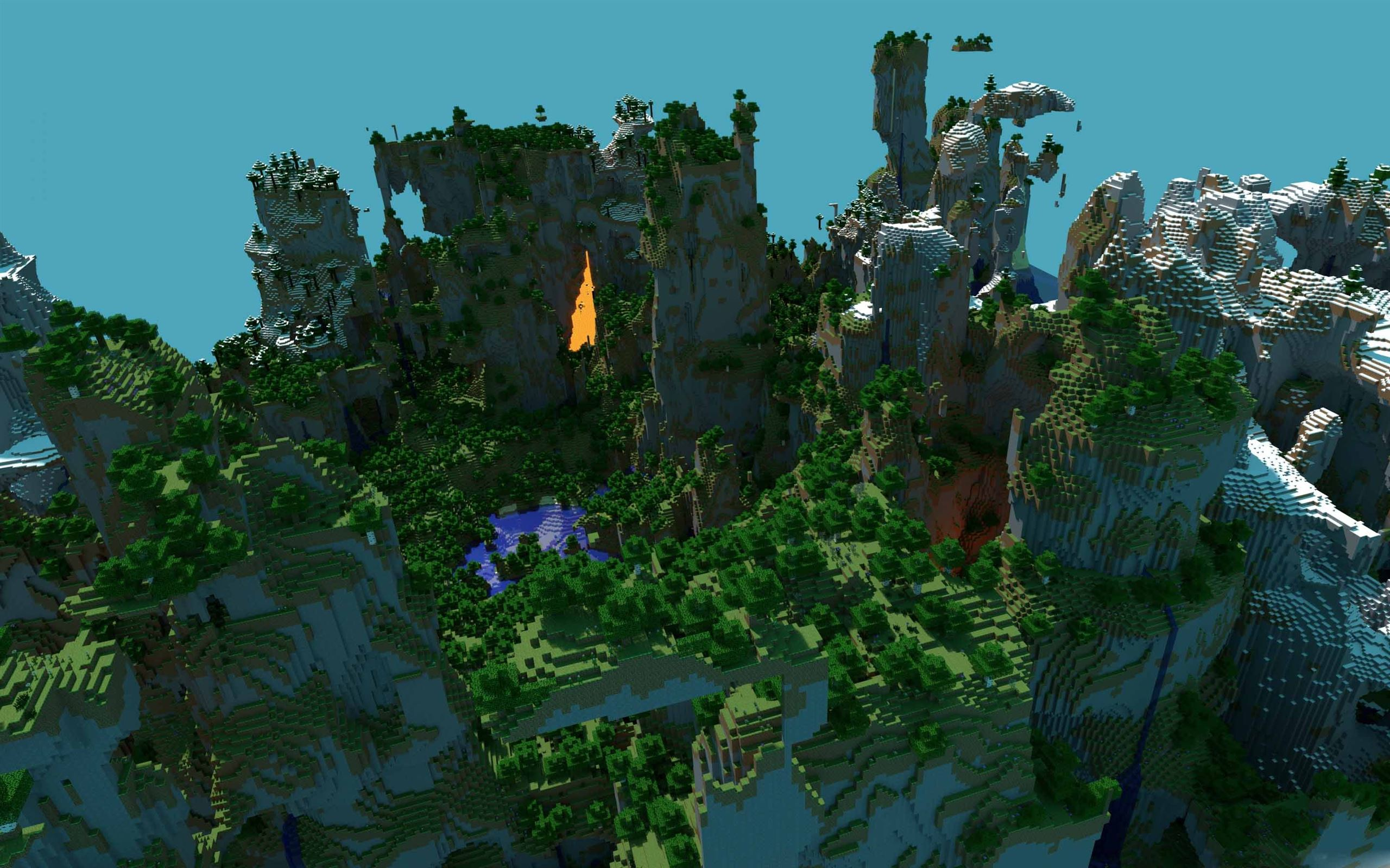 minecraft landscape mac wallpaper download | free mac wallpapers
