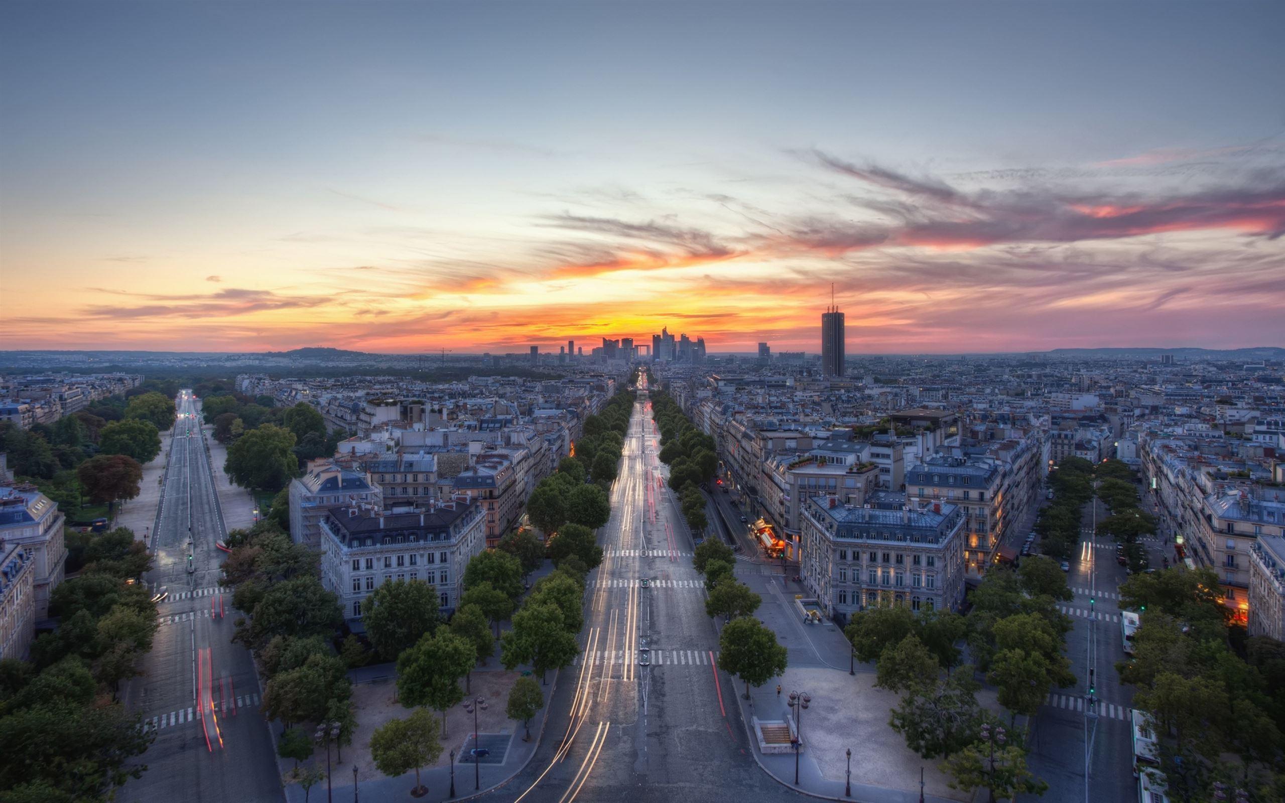 Sunset Paris France Mac Wallpaper Download | AllMacWallpaper