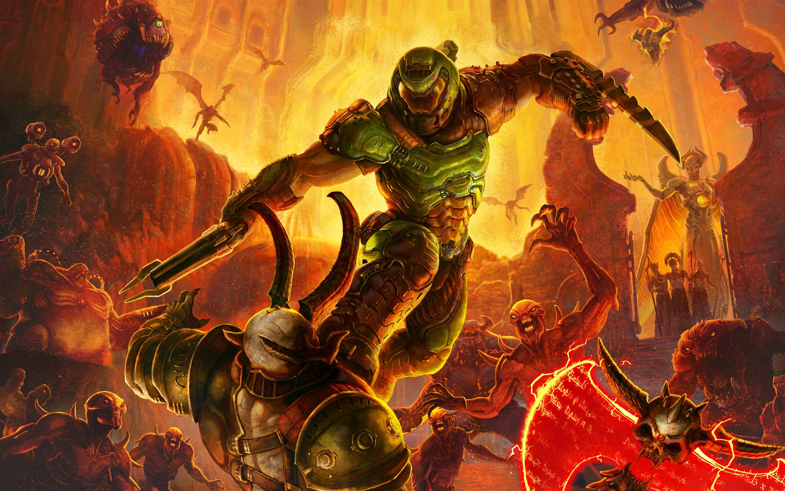 Doom Eternal 8k Mac Wallpaper Download Allmacwallpaper