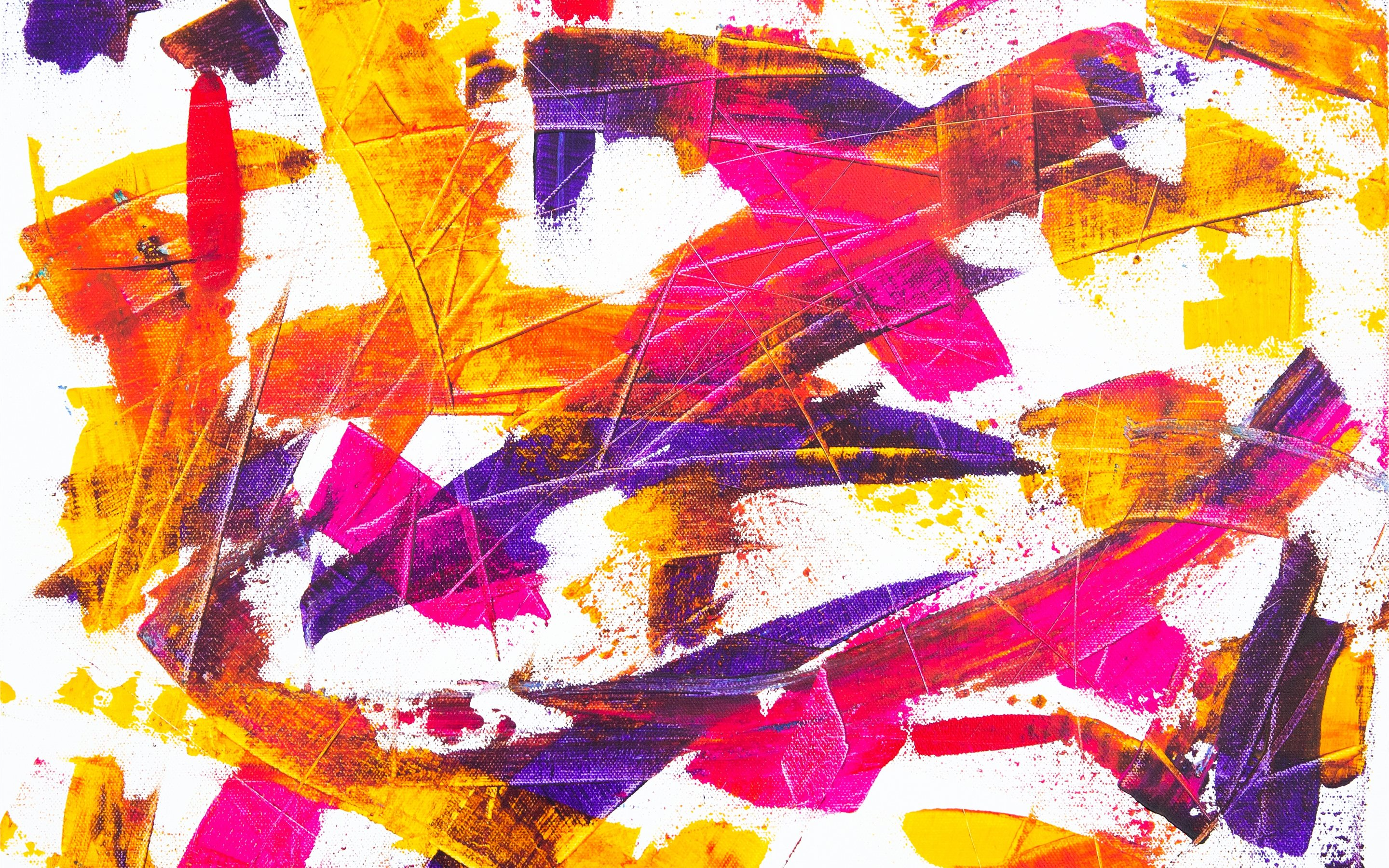 Abstract Painting On Canv    Mac Wallpaper Download | Free