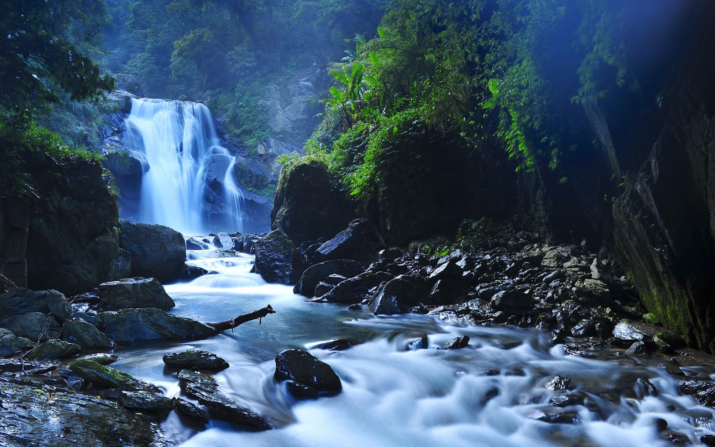 Beautiful Taiwan Forest Waterfalls Mac Wallpaper Download