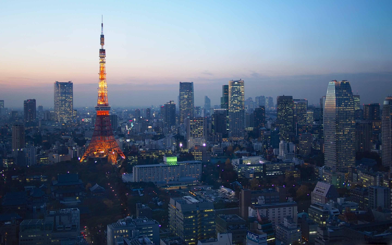Blue Hour Over Tokyo Mac Wallpaper Download | AllMacWallpaper