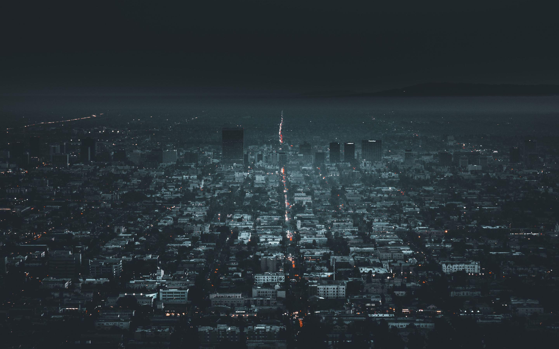 Darkness In Los Angeles Mac Wallpaper Download Free Mac Wallpapers