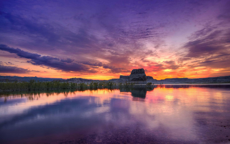 Lake Sunset Mac Wallpaper Download Allmacwallpaper