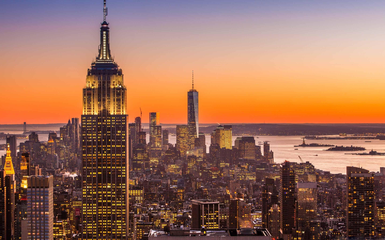 New York City Aerial View Mac Wallpaper Download Allmacwallpaper