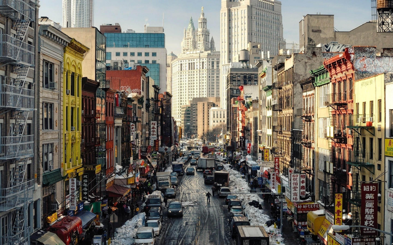 New York Street Ny Usa Mac Wallpaper Download Allmacwallpaper