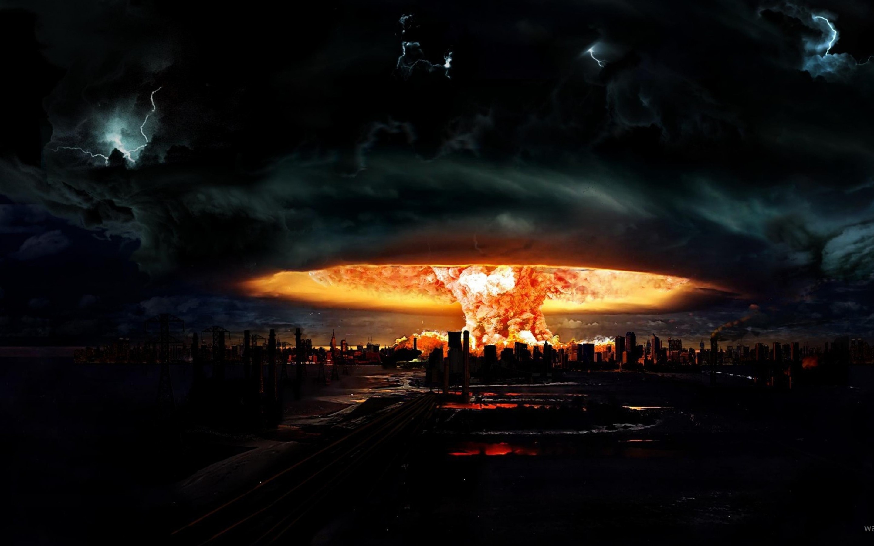 Nuclear Explosion Of Darkness Mac Wallpaper Download