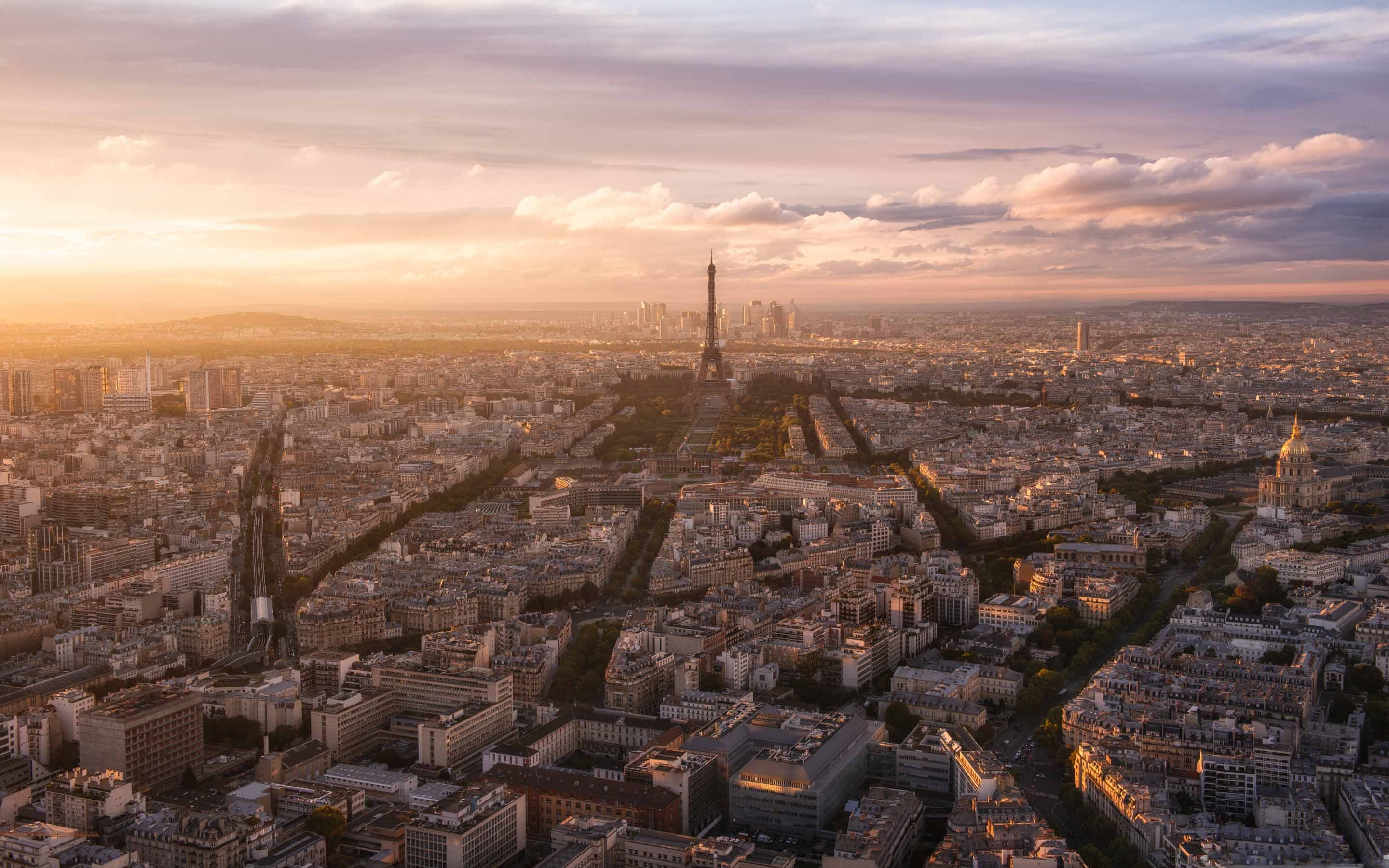 Paris Panoramic View Mac Wallpaper Download