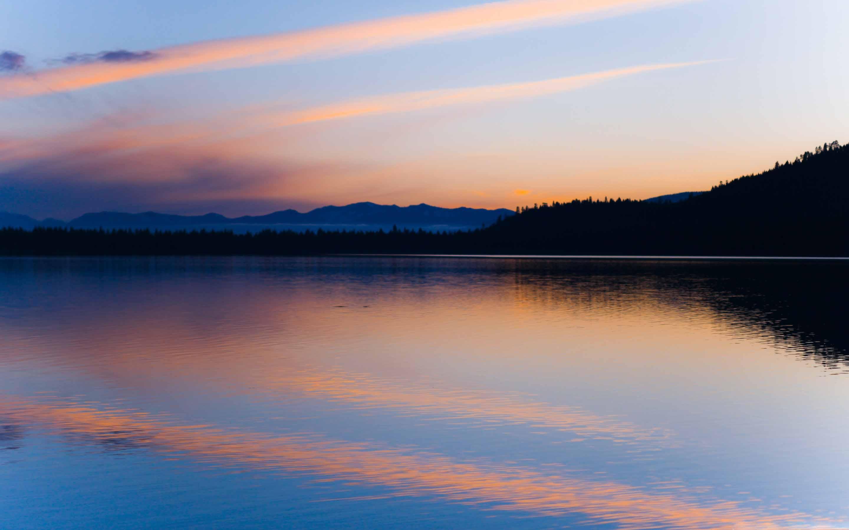 Peaceful Lake At Dusk Macbook Air Wallpaper Download Allmacwallpaper