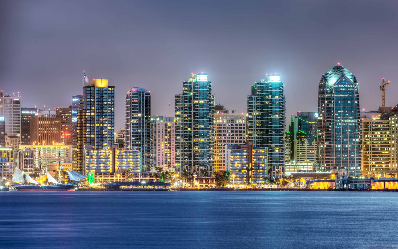 San Diego Skyline Macbook Air Wallpaper Download Allmacwallpaper
