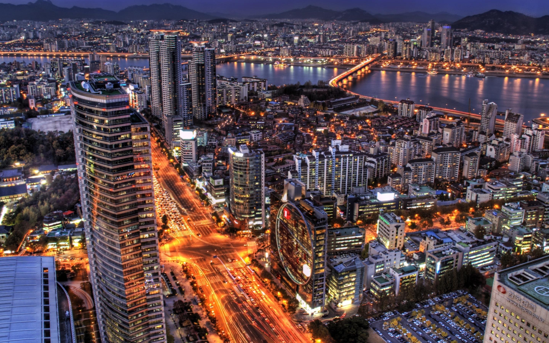 Seoul At Night South Korea Mac Wallpaper Download