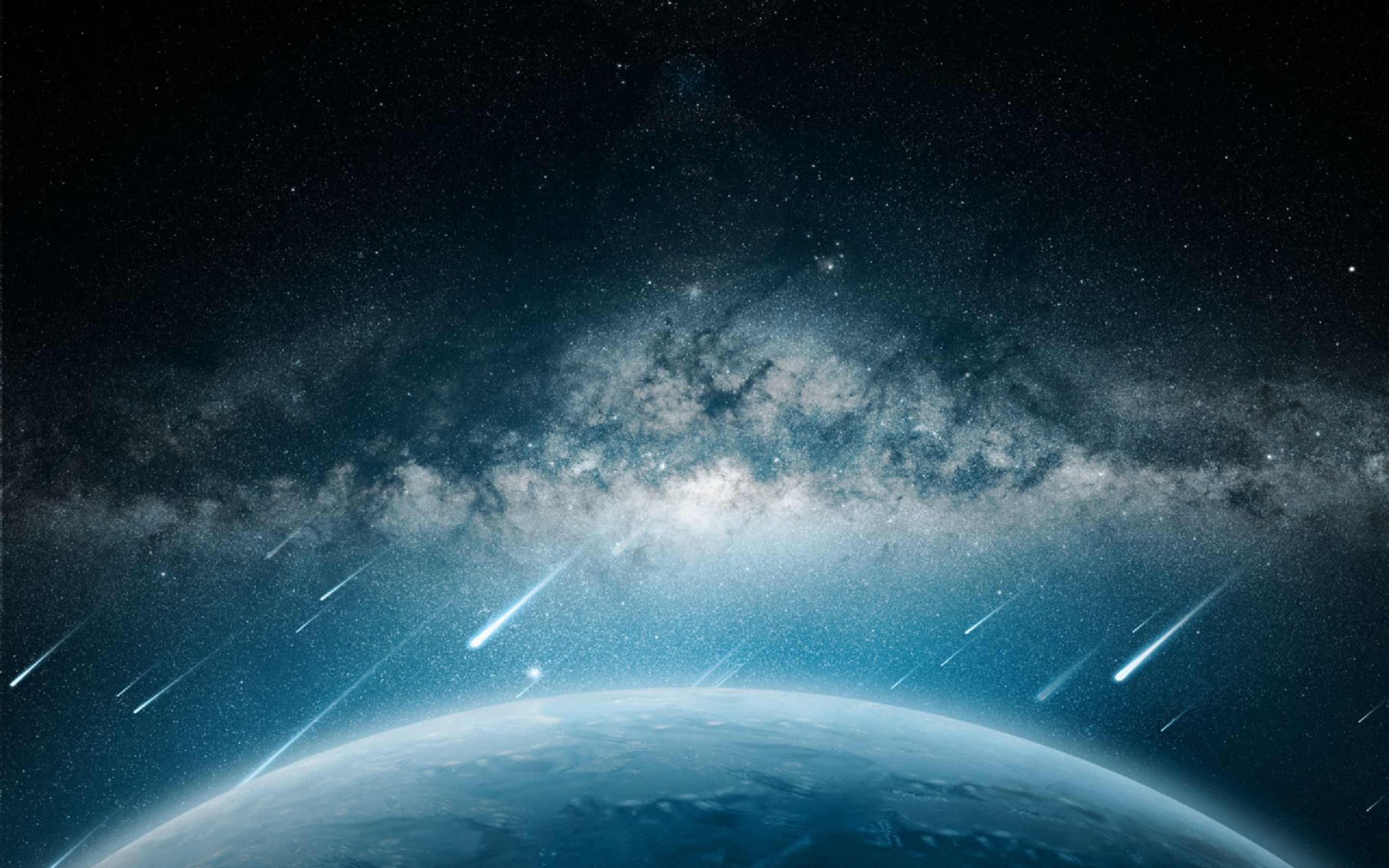 Space Meteorite Planet Rain Mac Wallpaper Download ...
