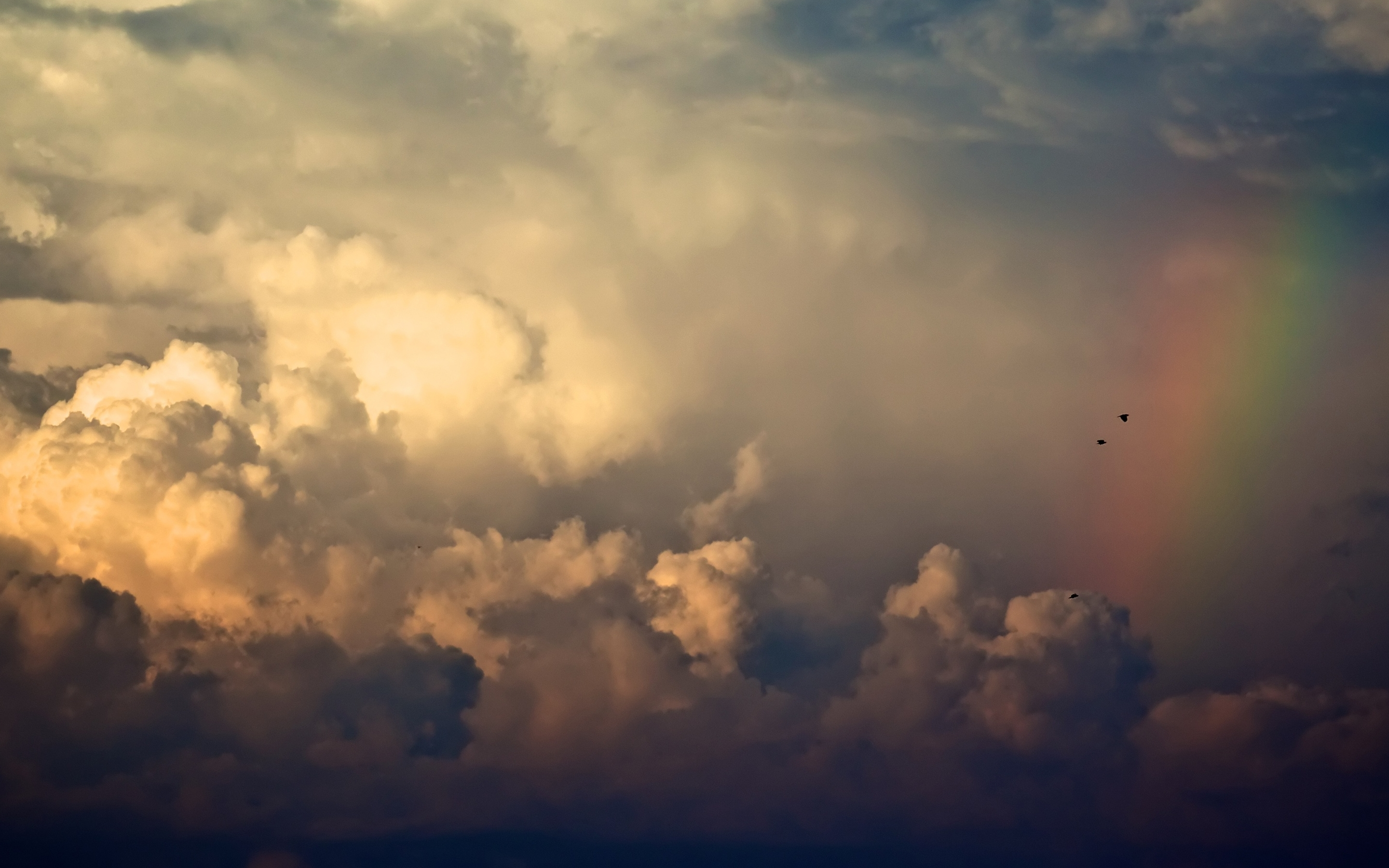 storm clouds and rainbow mac wallpaper download free mac
