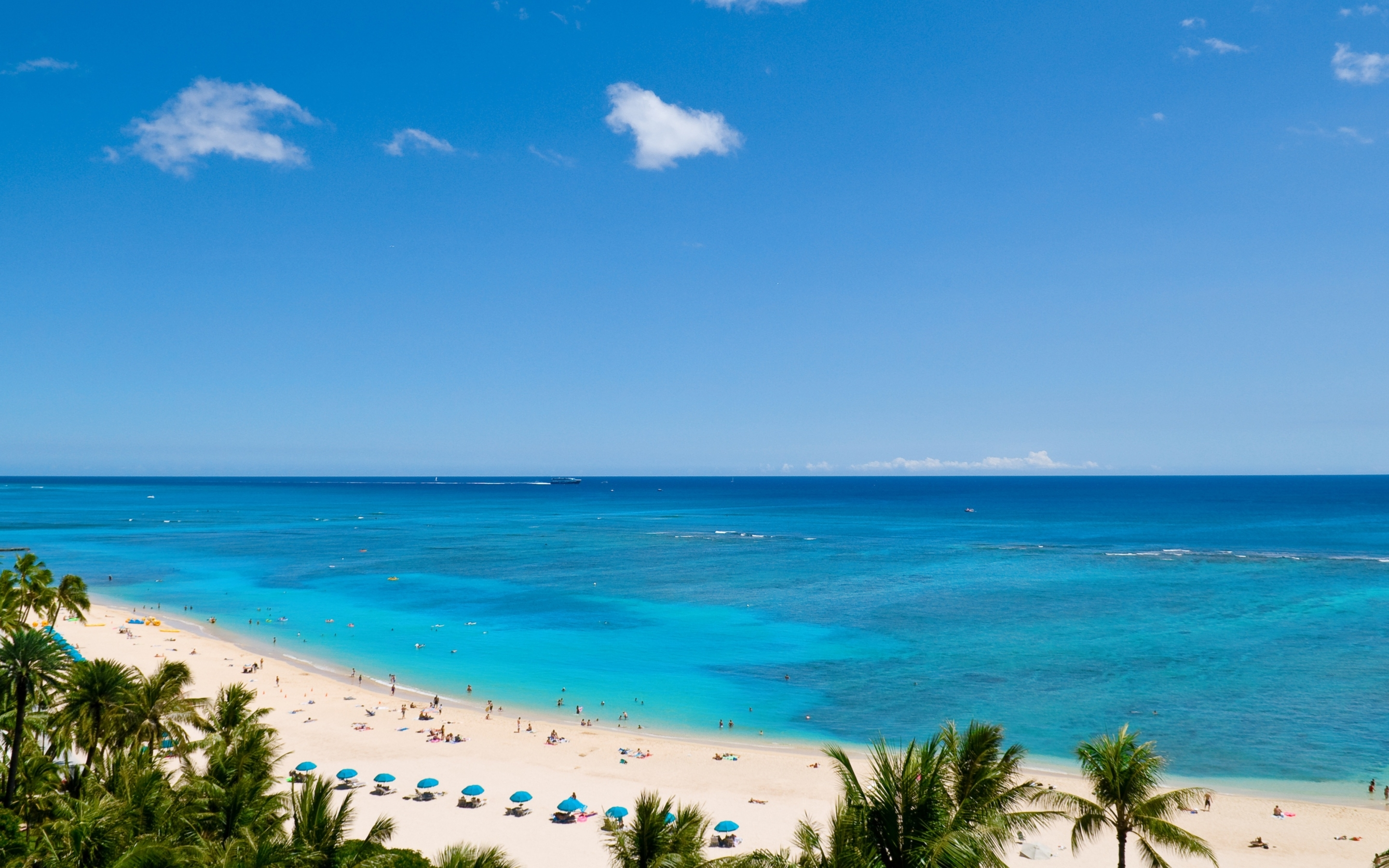 Waikiki Beach And Pacific Ocean Mac Wallpaper Download ...