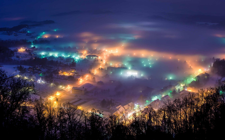 Winter Night In Pregrada Mac Wallpaper Download | Free Mac ...