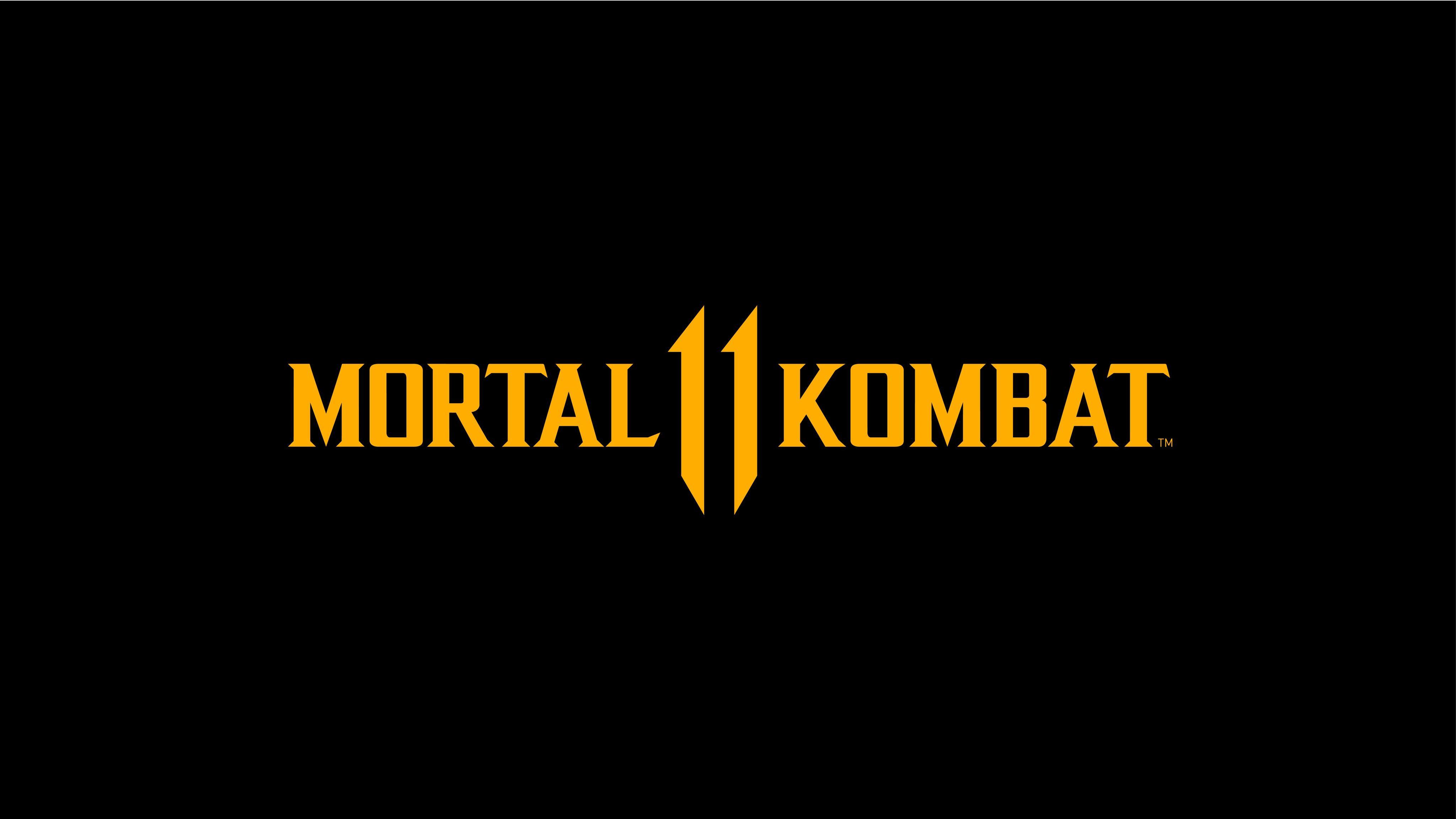 Mortal Kombat 11 Logo Dark Black 8k Macbook Air Wallpaper Download
