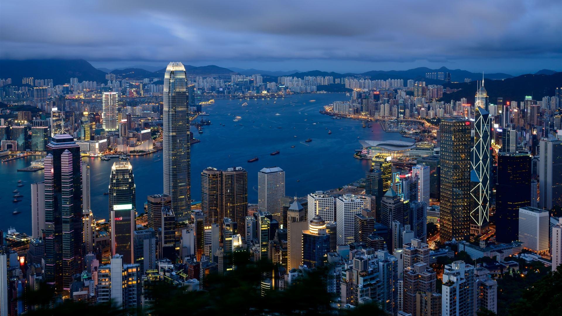 Hong Kong City View Mac Wallpaper Download | Free Mac ...