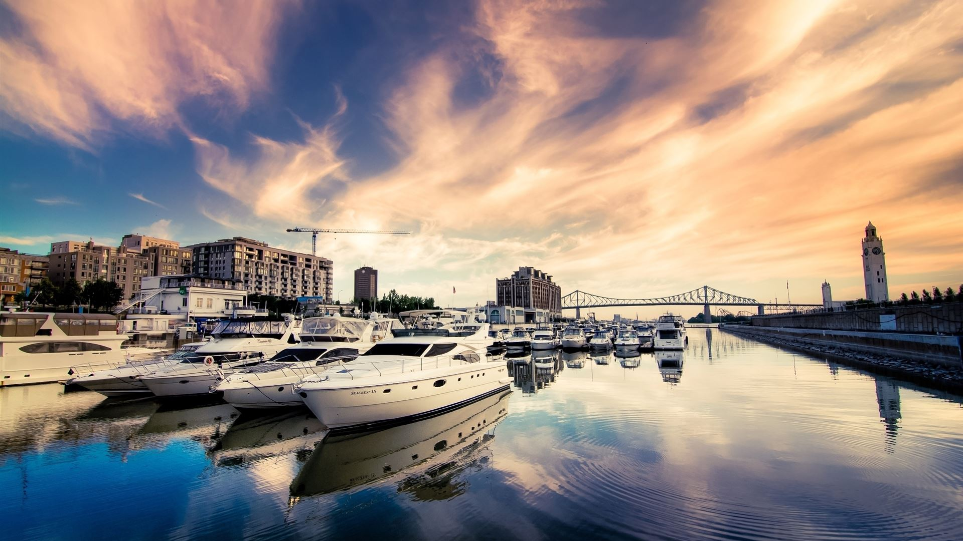 luxury boats in port mac wallpaper download free mac