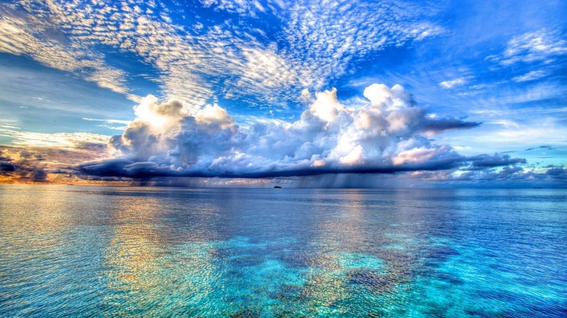 Rain clouds over the sea Mac Wallpaper Download | Free Mac Wallpapers