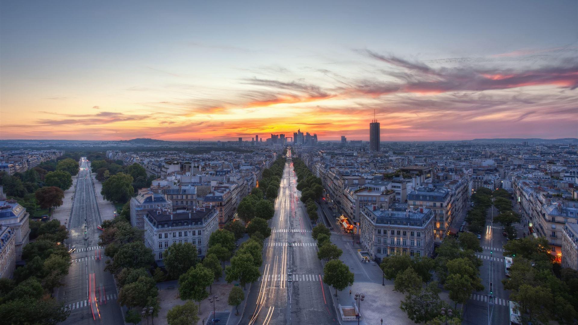 Sunset Paris France Mac Wallpaper Download Allmacwallpaper