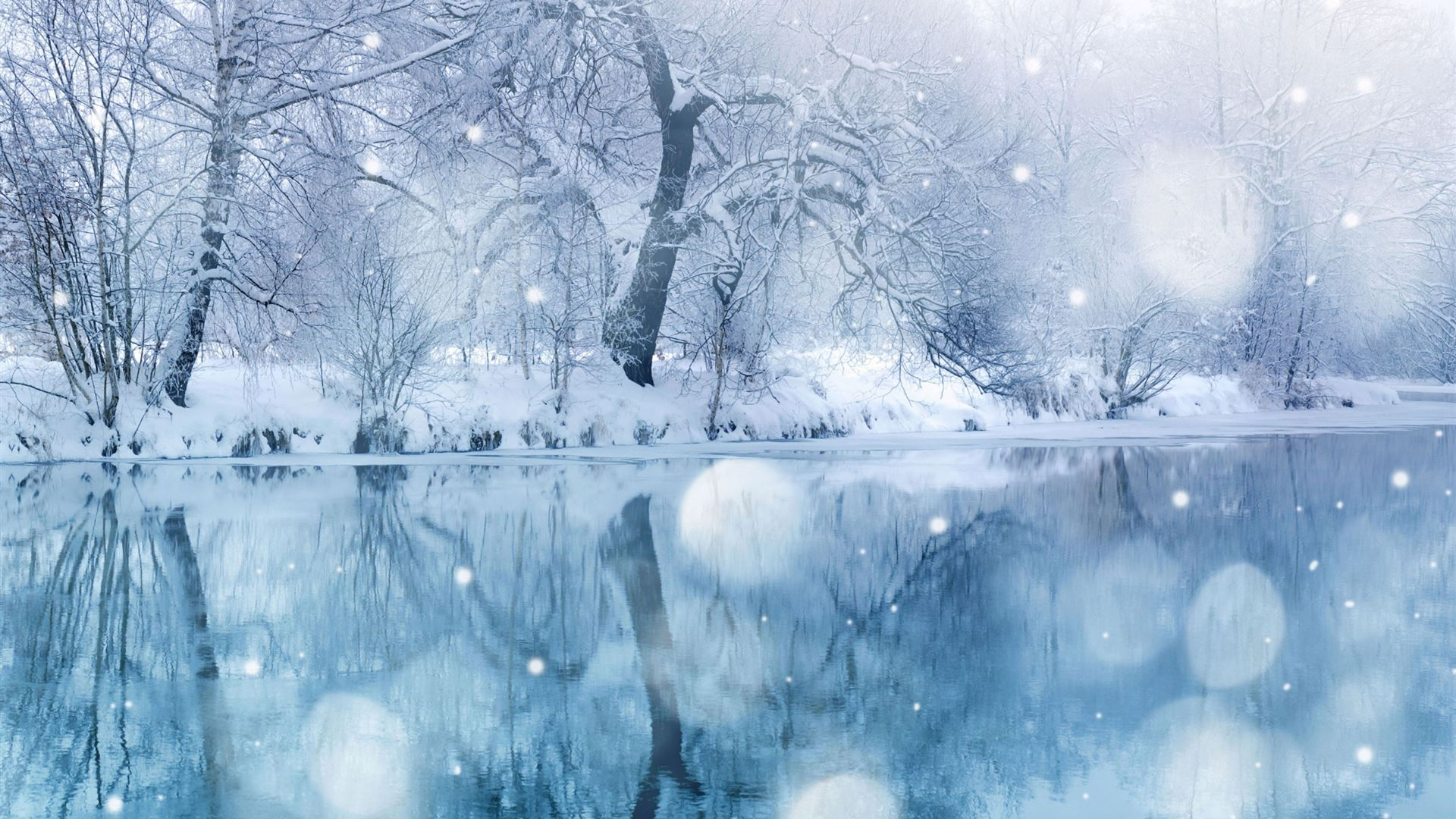 Winter Snowfall Macbook Air Wallpaper Download Allmacwallpaper