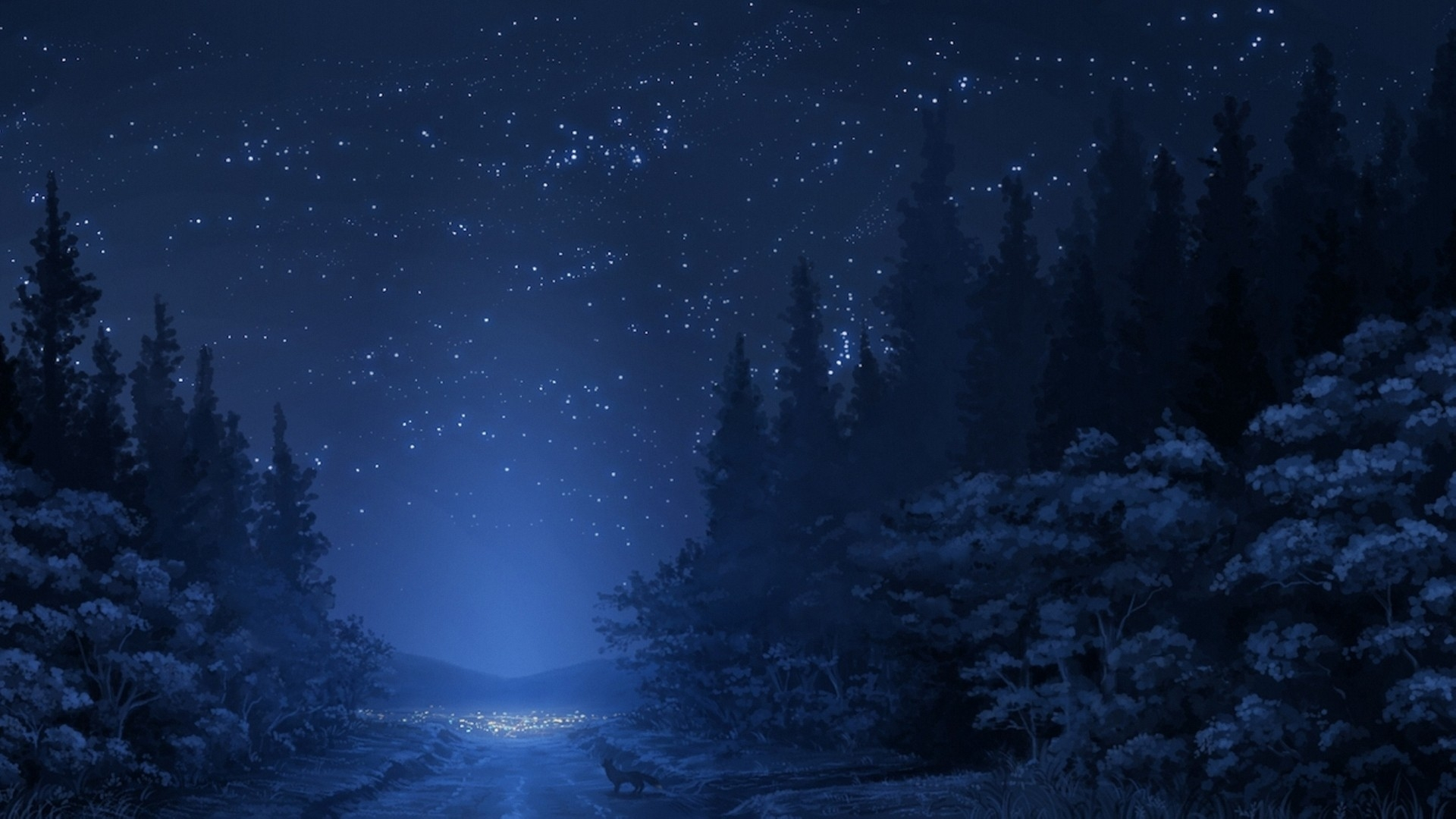 Winter Night Sky Mac Wallpaper Download
