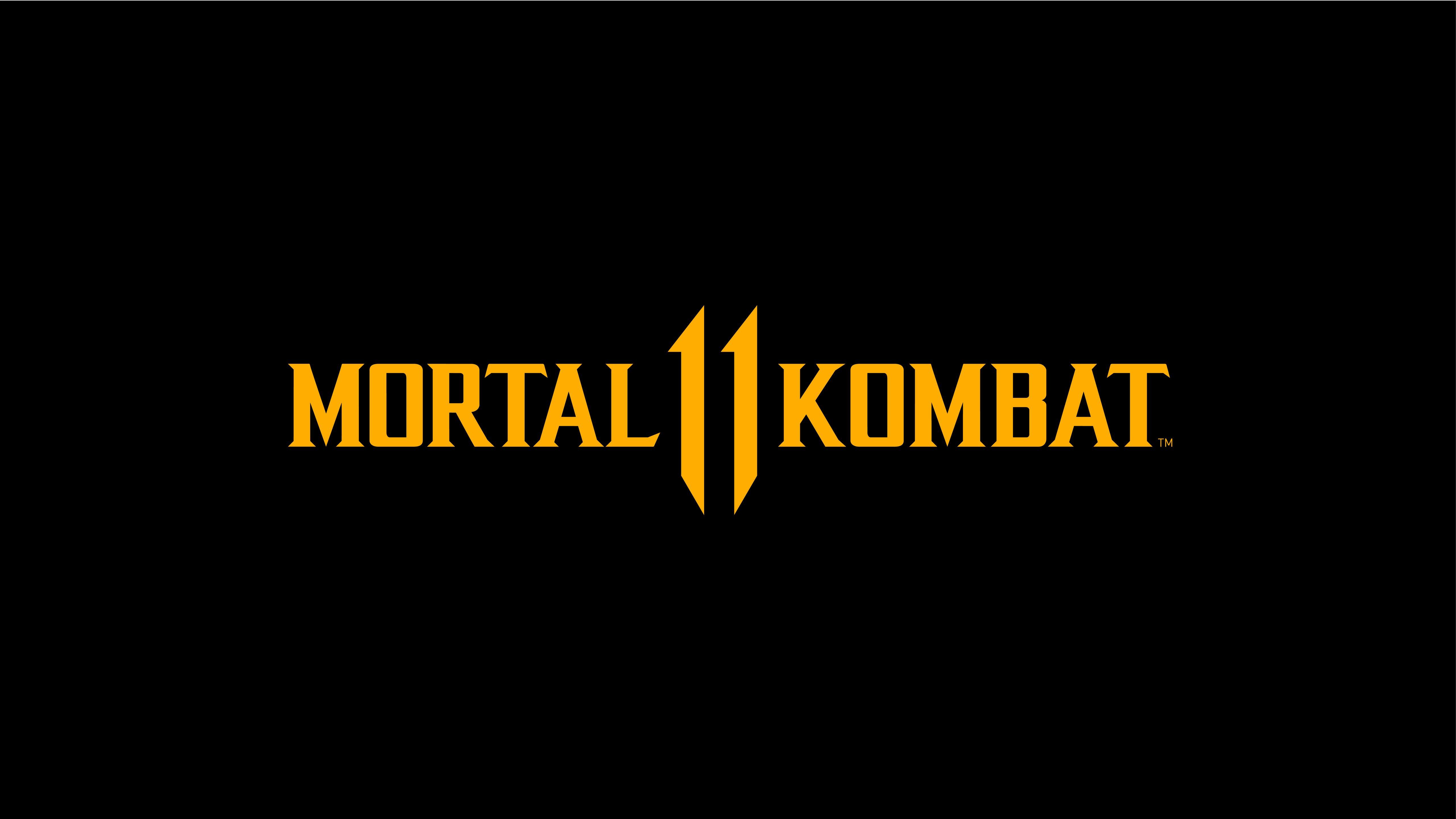 Mortal Kombat 11 Logo Dark Black 8k Mac Wallpaper Download