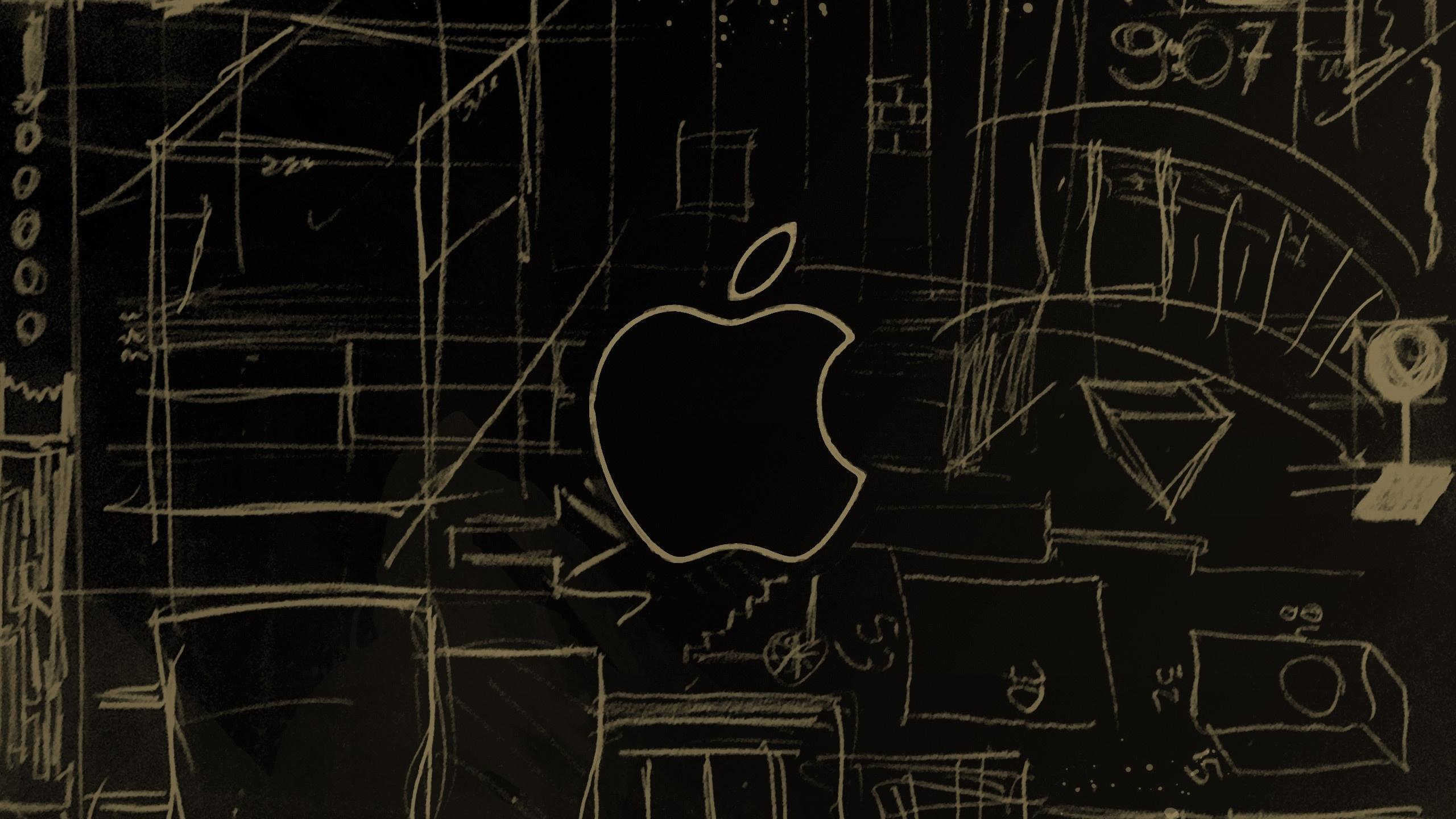 Apple Logo Sketch Macbook Air Wallpaper Download Allmacwallpaper