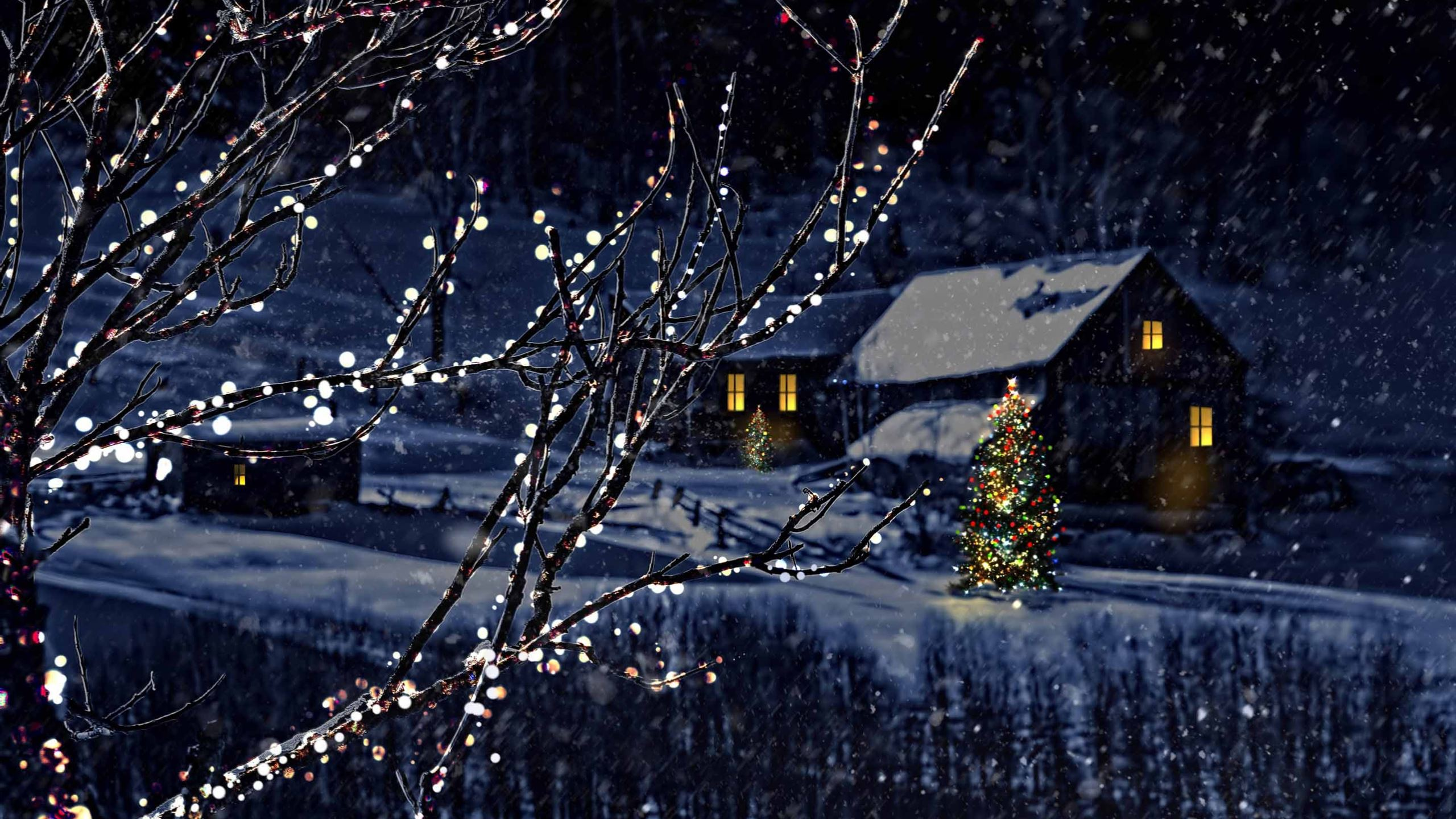 Christmas Night Macbook Air Wallpaper Download Allmacwallpaper