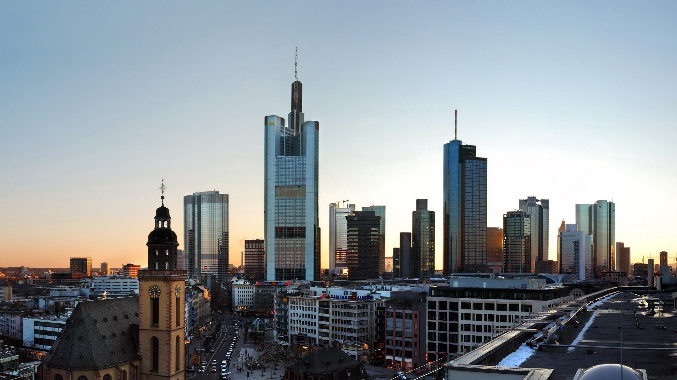 Frankfurt Skyscrapers Mac Wallpaper Download | Free Mac ...