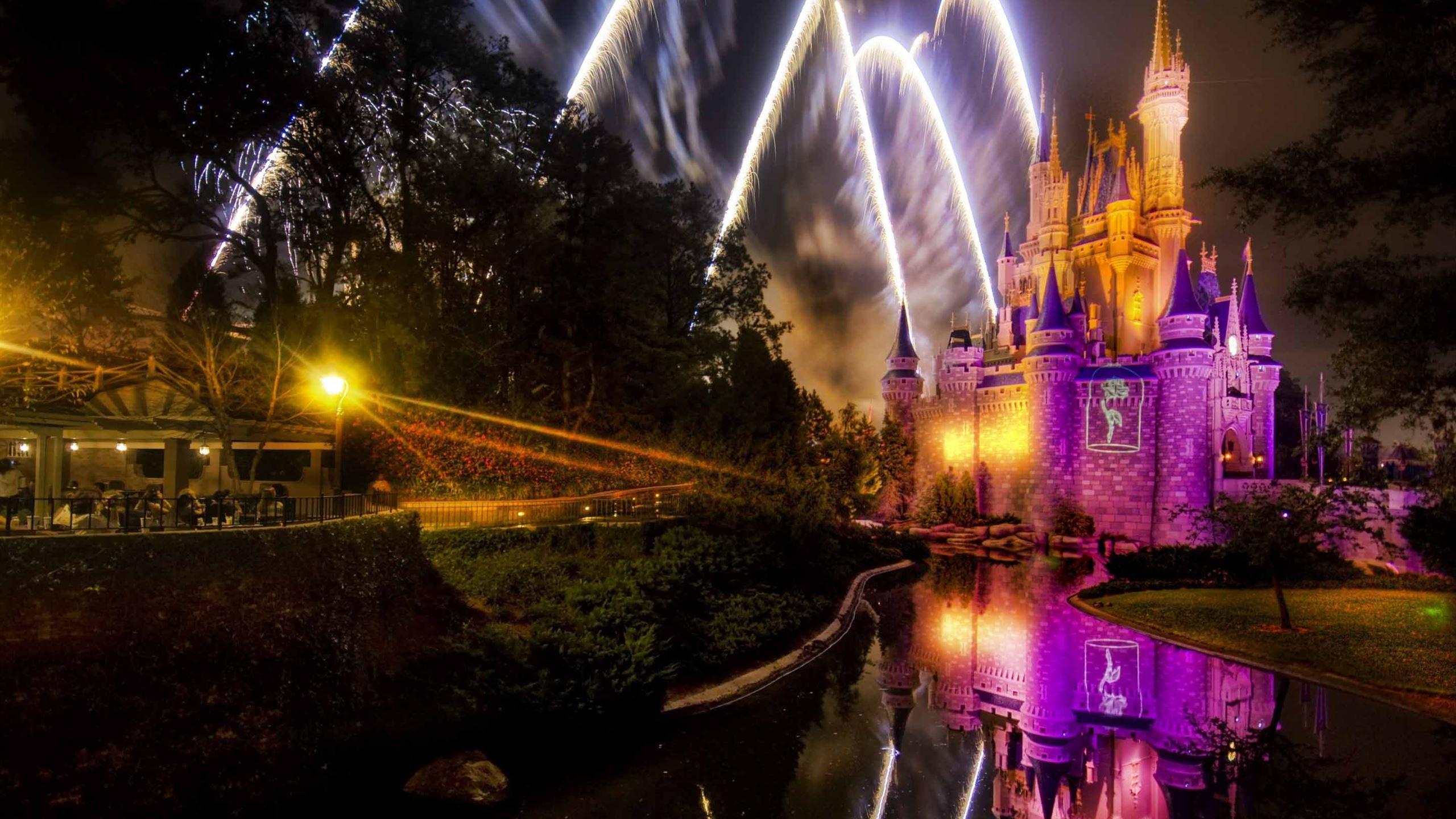 magical disney fireworks show mac wallpaper download | free mac