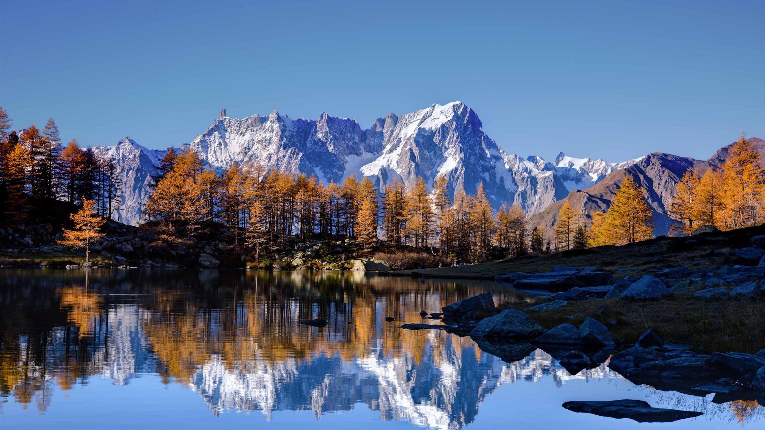 Mont Blanc Autumn Mac Wallpaper Download Allmacwallpaper