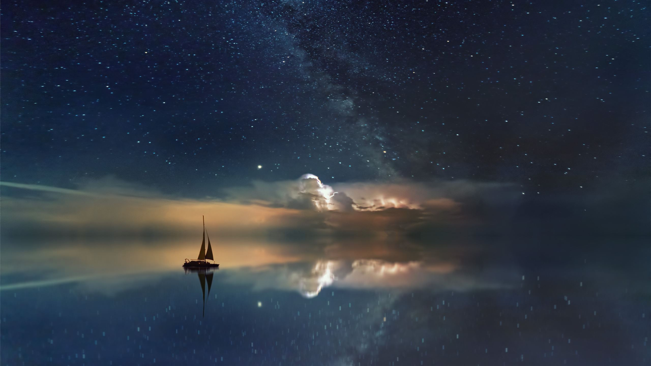 Black Sailing Boat Digital Wallpaper Imac Wallpaper Download Allmacwallpaper