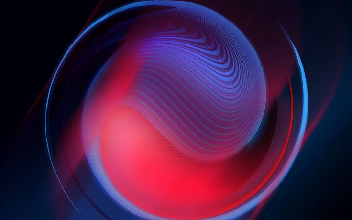 5k abstract shphere iMac wallpaper