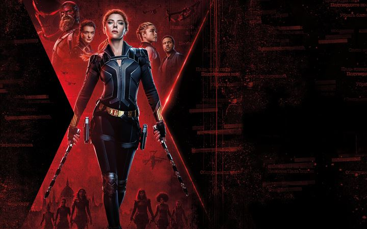 8k black widow 2020 iMac wallpaper