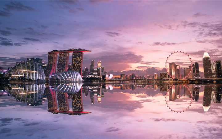 Marina Bay Sands Singapore iMac wallpaper