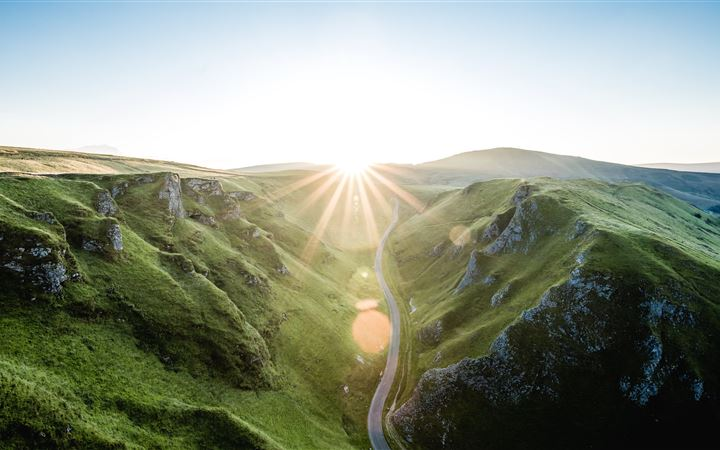 SUNSET OVER WINNATS PASS iMac wallpaper