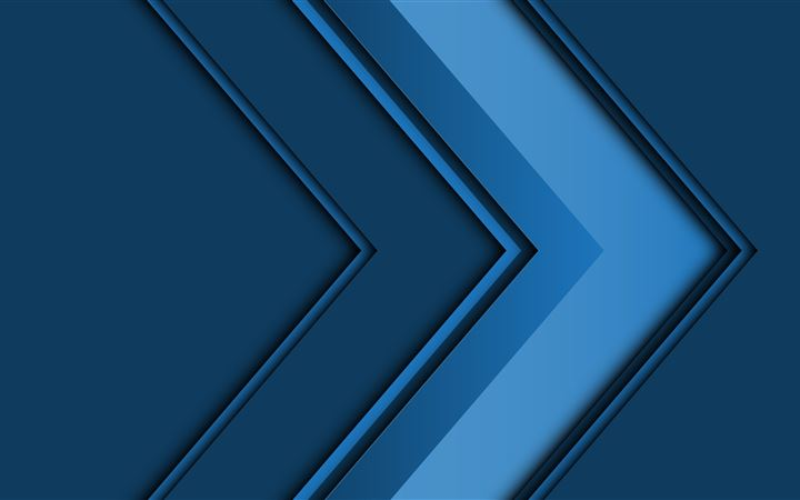 abstract arrow 3d blue 5k iMac wallpaper