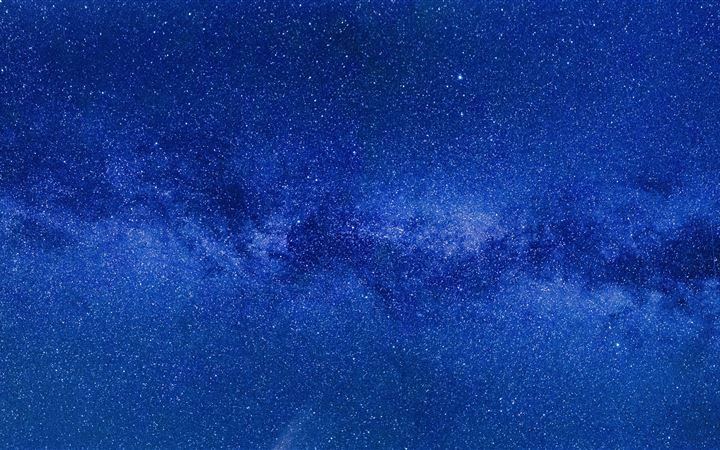 blue milky way 8k iMac wallpaper