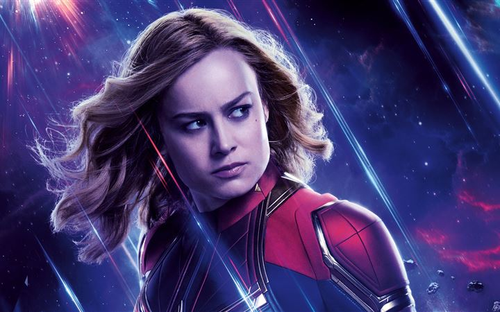 captain marvel avengers end game 8k iMac wallpaper
