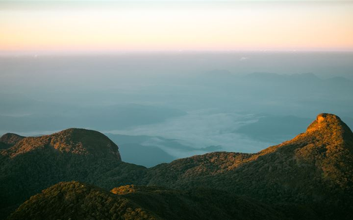 from top of adams peak srilanka iMac wallpaper