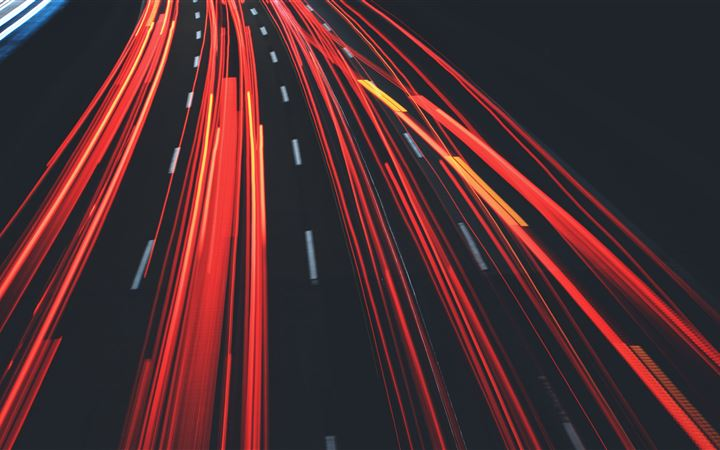 long exposure road abstract iMac wallpaper