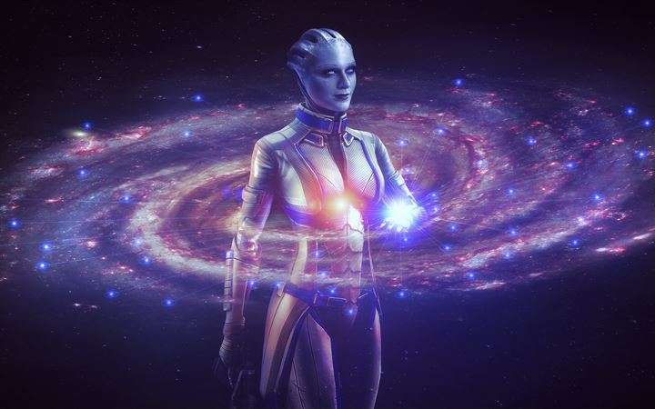 mass effect liara 8k iMac wallpaper