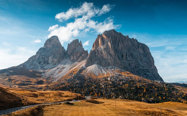mountains autumn italy roads 5k iMac wallpaper