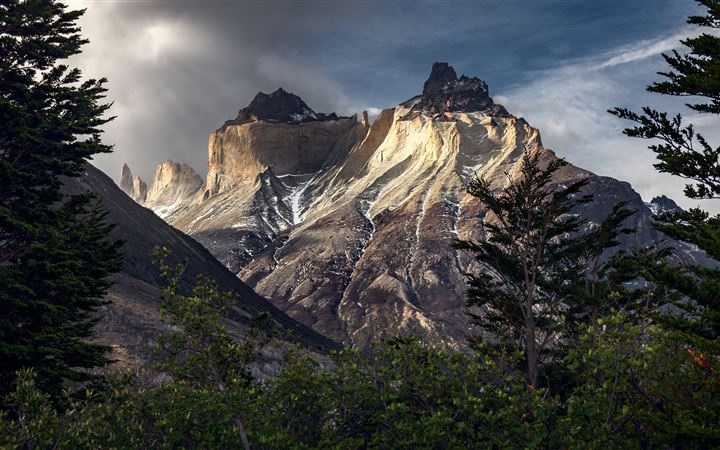 mountains chile patagonia torres del paine 5k iMac wallpaper
