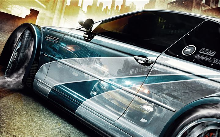 need for speed most wanted key art 5k iMac wallpaper
