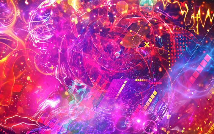 neo space pattern squares abstract 5k iMac wallpaper