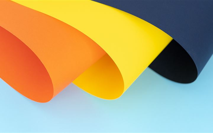 orange, yellow and blue p... iMac wallpaper