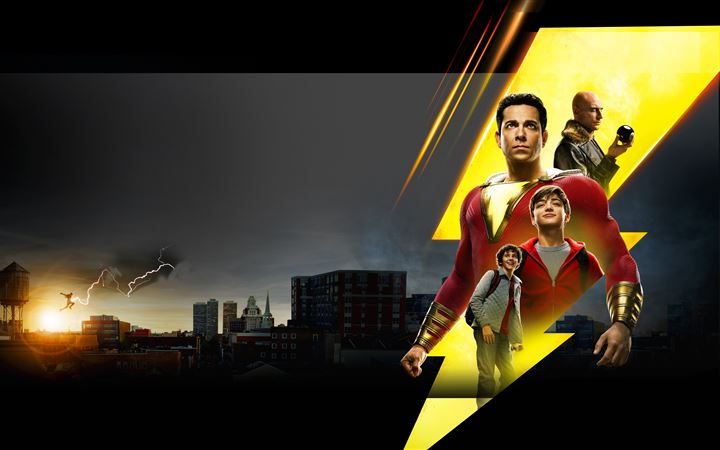 shazam new poster iMac wallpaper