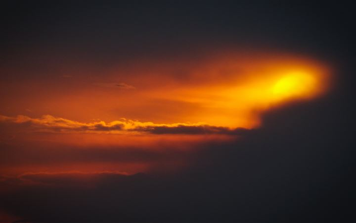 sky sunset smoke 5k iMac wallpaper